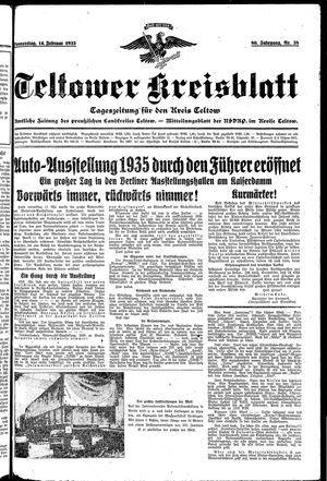 Teltower Kreisblatt vom 14.02.1935