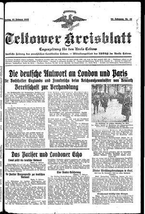 Teltower Kreisblatt vom 15.02.1935