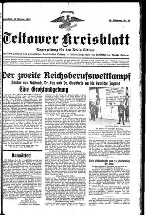 Teltower Kreisblatt vom 16.02.1935