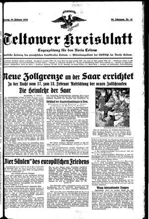 Teltower Kreisblatt vom 18.02.1935