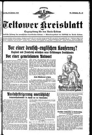 Teltower Kreisblatt on Feb 19, 1935
