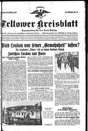 Teltower Kreisblatt on Feb 20, 1935