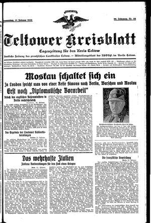 Teltower Kreisblatt vom 21.02.1935