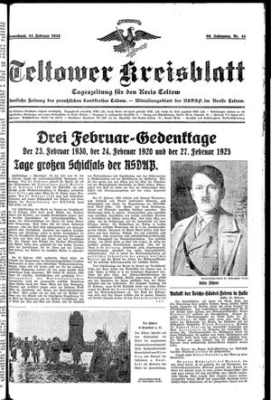 Teltower Kreisblatt vom 23.02.1935