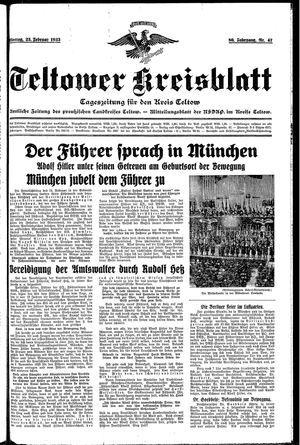 Teltower Kreisblatt vom 25.02.1935