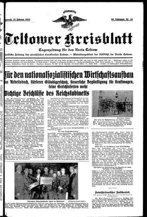 Teltower Kreisblatt vom 27.02.1935