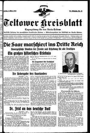 Teltower Kreisblatt vom 01.03.1935