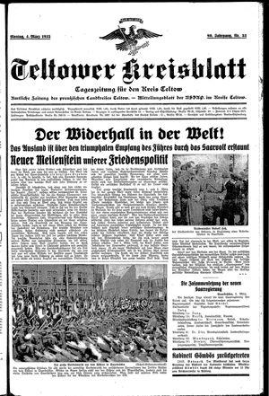 Teltower Kreisblatt vom 04.03.1935