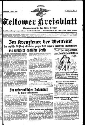 Teltower Kreisblatt vom 07.03.1935