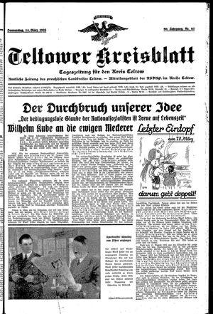 Teltower Kreisblatt vom 14.03.1935