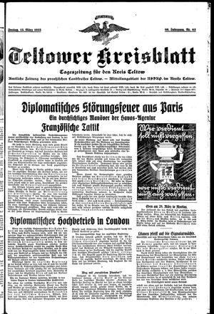 Teltower Kreisblatt vom 15.03.1935