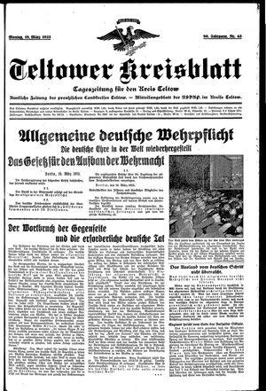 Teltower Kreisblatt vom 18.03.1935