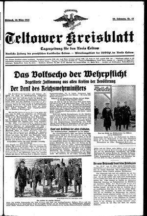 Teltower Kreisblatt vom 20.03.1935
