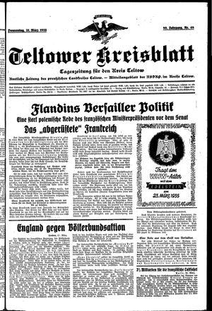 Teltower Kreisblatt on Mar 21, 1935