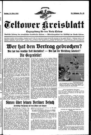 Teltower Kreisblatt vom 22.03.1935