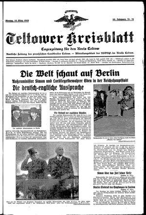Teltower Kreisblatt vom 25.03.1935