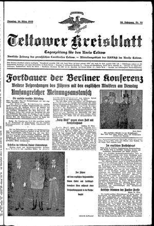 Teltower Kreisblatt vom 26.03.1935