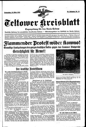 Teltower Kreisblatt vom 28.03.1935
