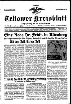 Teltower Kreisblatt on Mar 29, 1935