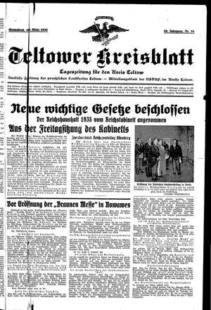 Teltower Kreisblatt vom 30.03.1935