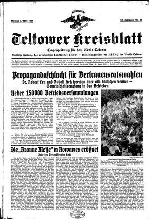 Teltower Kreisblatt vom 01.04.1935
