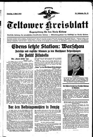 Teltower Kreisblatt vom 02.04.1935