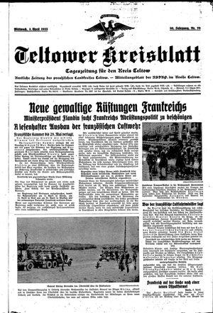 Teltower Kreisblatt vom 03.04.1935