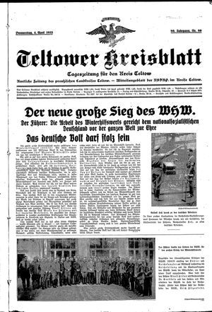 Teltower Kreisblatt vom 04.04.1935