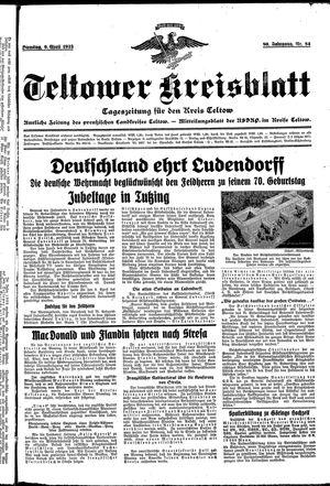 Teltower Kreisblatt vom 09.04.1935