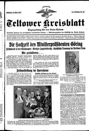 Teltower Kreisblatt vom 10.04.1935
