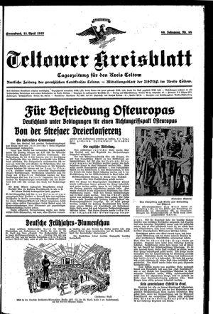 Teltower Kreisblatt vom 13.04.1935