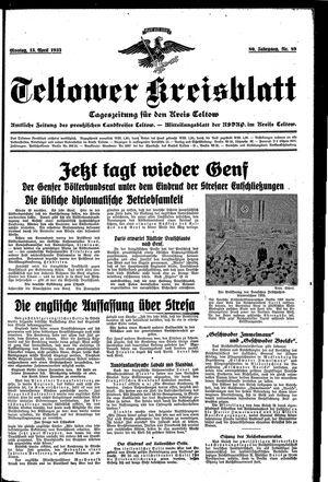 Teltower Kreisblatt vom 15.04.1935