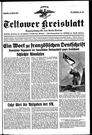 Teltower Kreisblatt vom 16.04.1935