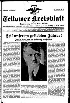 Teltower Kreisblatt vom 18.04.1935