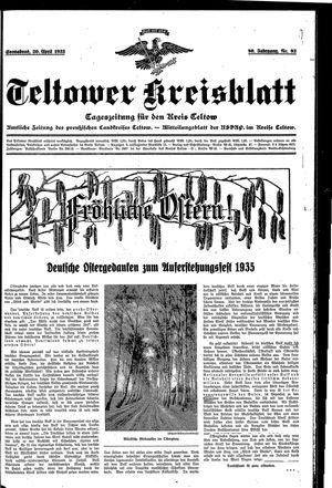 Teltower Kreisblatt vom 20.04.1935