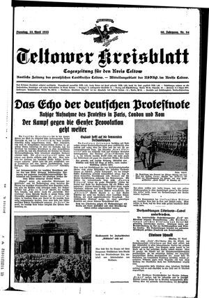 Teltower Kreisblatt vom 23.04.1935