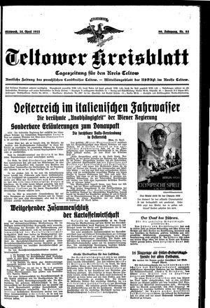 Teltower Kreisblatt vom 24.04.1935
