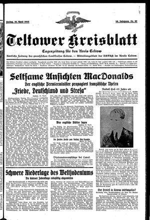 Teltower Kreisblatt on Apr 26, 1935
