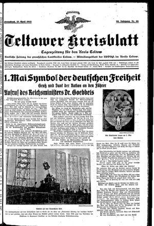 Teltower Kreisblatt vom 27.04.1935