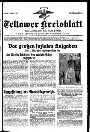 Teltower Kreisblatt vom 29.04.1935