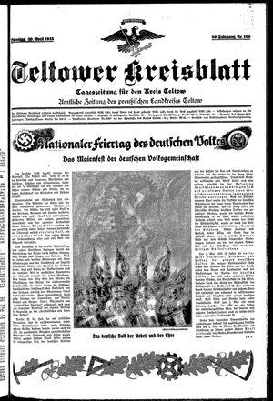 Teltower Kreisblatt vom 30.04.1935