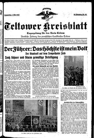 Teltower Kreisblatt vom 02.05.1935