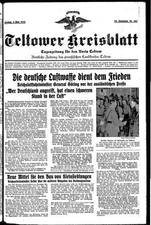 Teltower Kreisblatt vom 03.05.1935