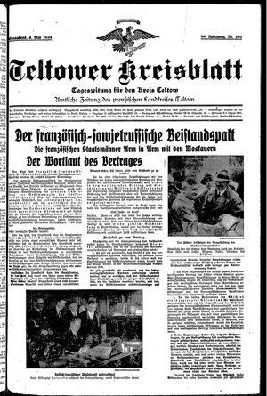 Teltower Kreisblatt on May 4, 1935