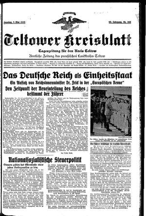 Teltower Kreisblatt vom 07.05.1935
