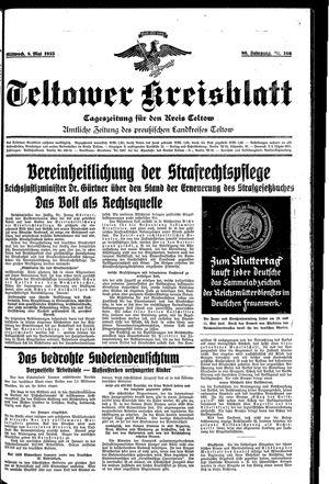Teltower Kreisblatt vom 08.05.1935