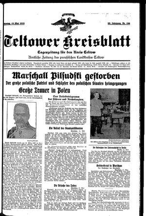 Teltower Kreisblatt vom 13.05.1935