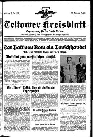 Teltower Kreisblatt vom 15.05.1935