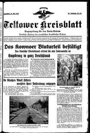 Teltower Kreisblatt vom 18.05.1935