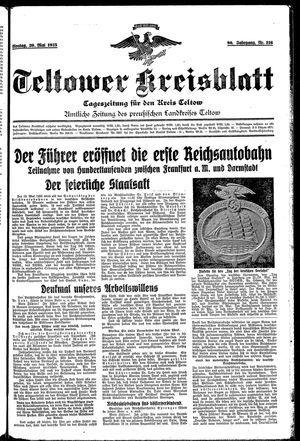 Teltower Kreisblatt vom 20.05.1935